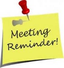 Meeting Reminder - Thursday 1st October - 7pm